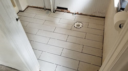 New shower drain and tile