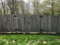 Took out fence and made a gate