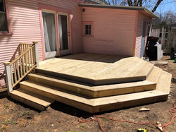 Octagon deck side view