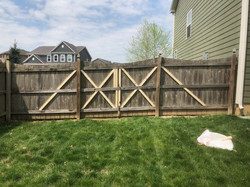 Took out fence and made a gate 2