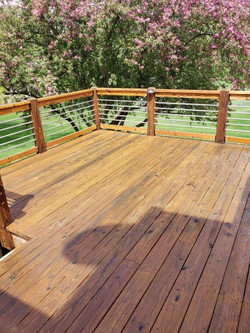 Revitalized deck with new rail