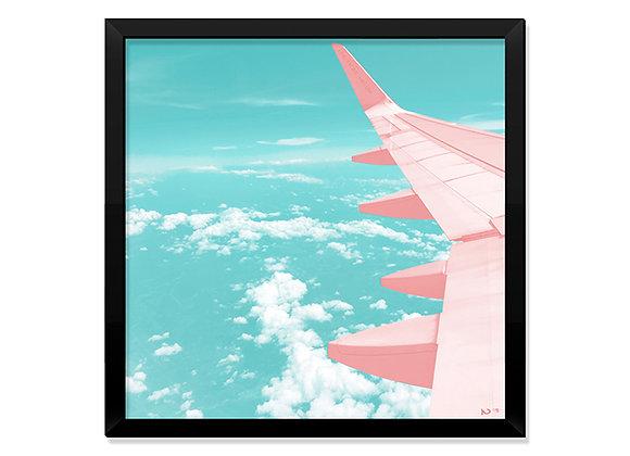 Quadro Avião Rose