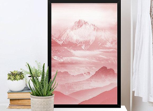 Quadro Montanhas Rose