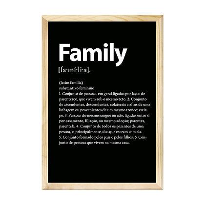 Quadro Moldura Pinus - Family