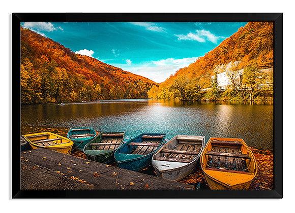 Quadro Barcos Outono