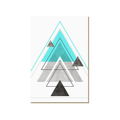 Quadro - Triangulos Turquesa - 556