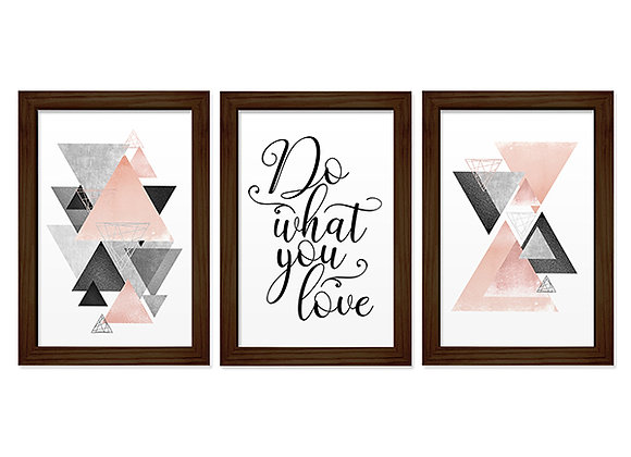 Kit 03 Quadros - Do What You Love