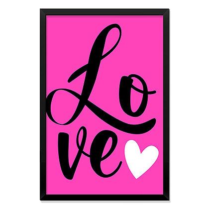 Quadro Love Pink
