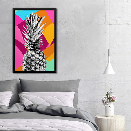 Quadro Abacaxi Colors