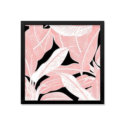 Quadro Folhagem Rose