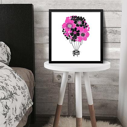 Quadro Balão de Flores