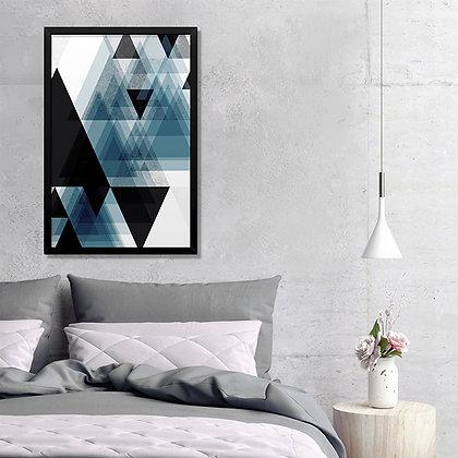 Quadro Triângulos Marinho