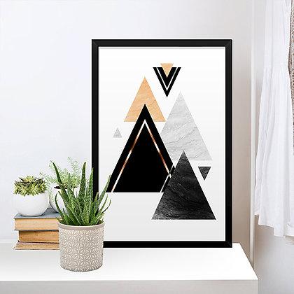 Quadro Triângulos Gold