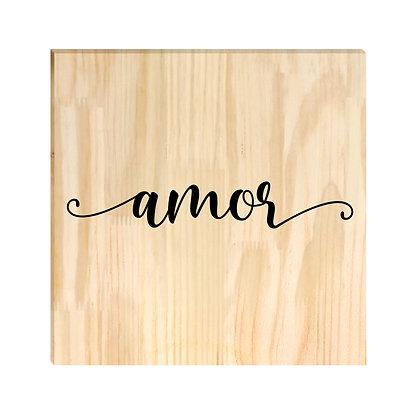 Quadro de Pinus - Amor