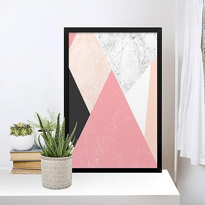 Quadro Geométrico Rose Mármore