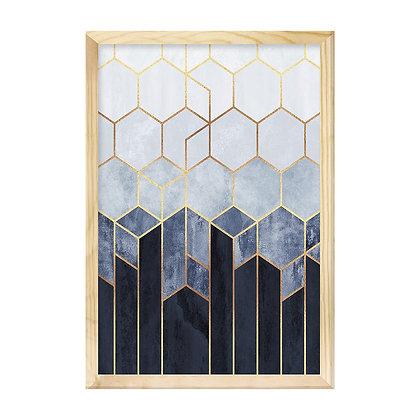 Quadro Moldura Pinus - Geometric