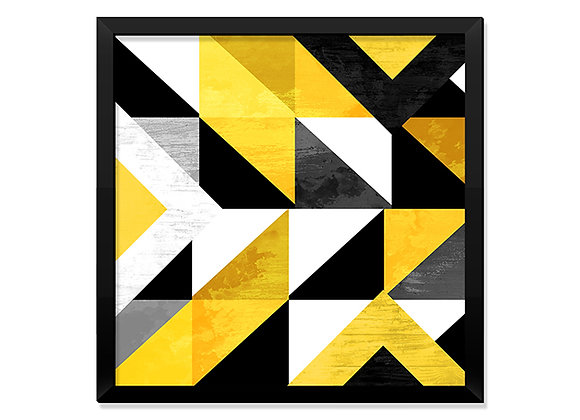 Quadro Triângulos Amarelos
