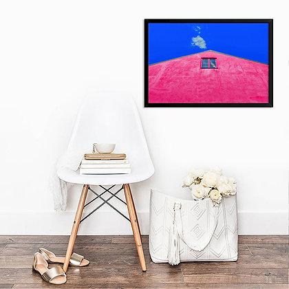 Quadro Casa Rosa Céu Royal