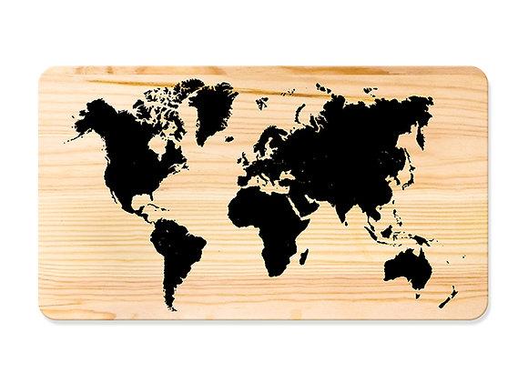 Quadro de Pinus 53x30 - Mapa Mundi