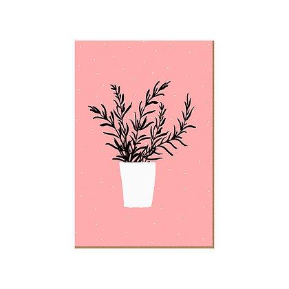 Quadro - Vaso Fundo Rose - 588