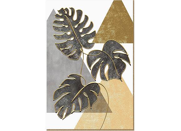 Quadro - Monstera Lines Gold - 542