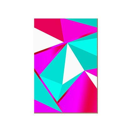 Quadro - Diamond Pink Turquesa - 583