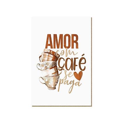 Quadro - Amor, com café se paga - 695