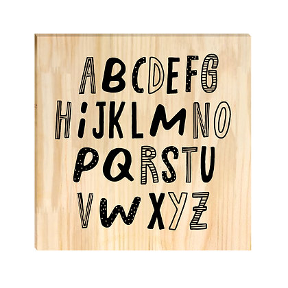 Quadro Pinus - Alfabeto