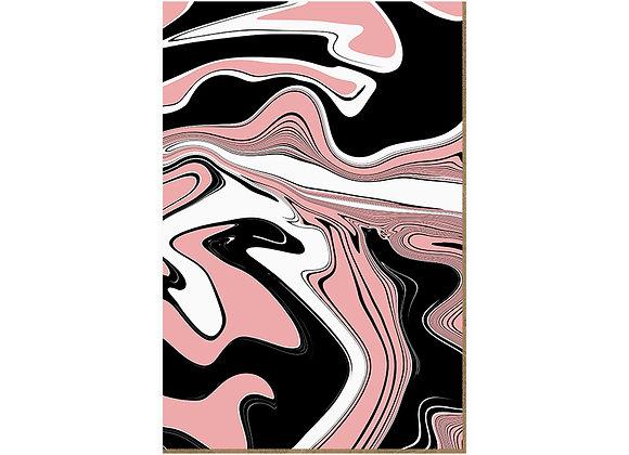Quadro - Ondas Abstratas Rose - 589