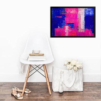 Quadro Abstrato Rosa & Royal