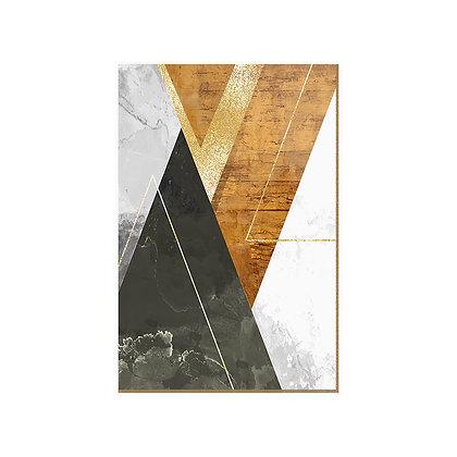 Quadro - Triângulos Glitter - 543