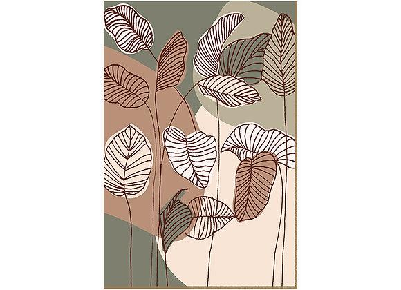 Quadro - Leaves Lines - 572
