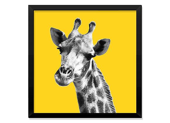 Quadro Girafa Amarela