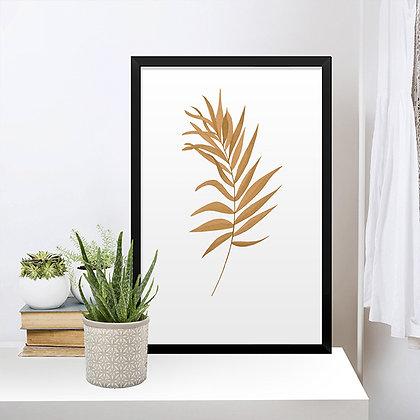 Quadro Palmeira Dourada