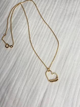 Collier coeur perlé
