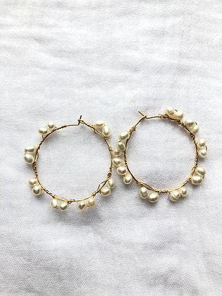 Créoles multi perles