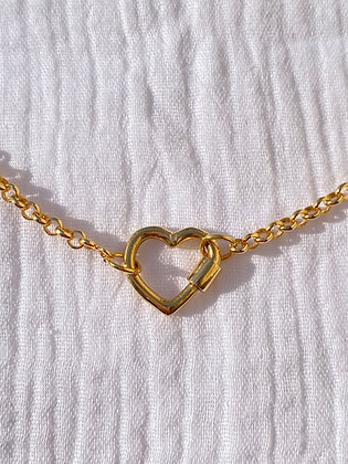 Collier lock heart