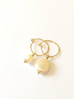 Créoles double perles