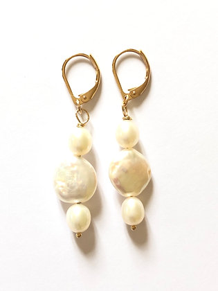 Dormeuses double/triple perles