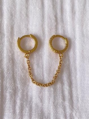 Monoboucle double anneaux serpent
