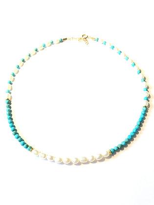 Ras de cou perles et turquoises