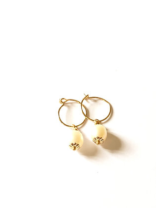 Minis créoles double perles
