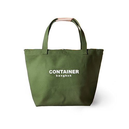 Summer Canvas Tote Olive (water resistant)