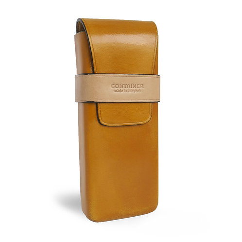 Glasses Leather Case Mustard
