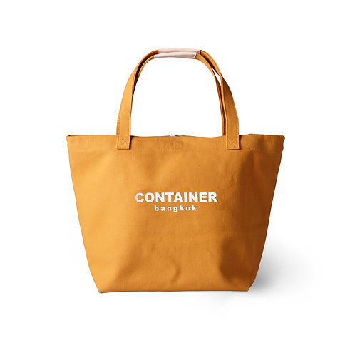 Summer Canvas Tote Mustard (water resistance)