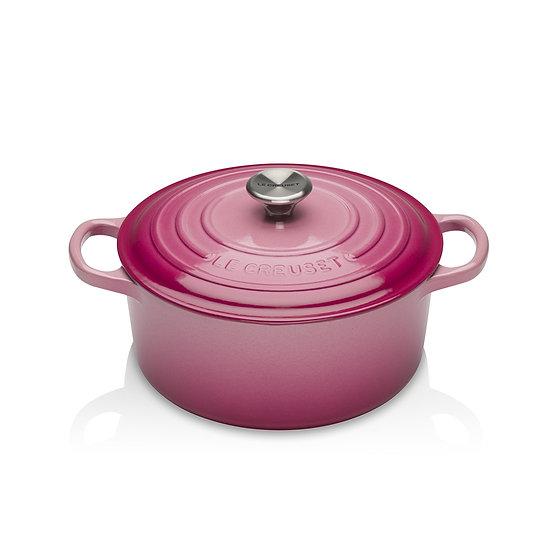 Le Creuset瑰麗野莓粉紅特別版鑄鐵鍋具系列 24 cm