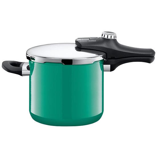 Silit 高壓鍋 Sicomatic® econtrol 6.5L 海洋綠