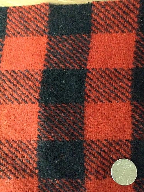 Plaid Buffalo Red Black 8734-1