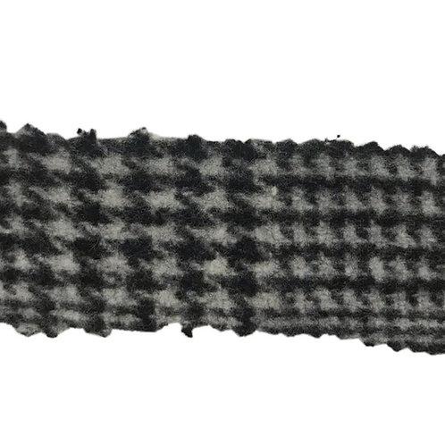 Plaid Glen Houndstooth B/W Coat. 3716 Fabric