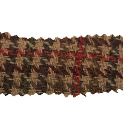 Houndstooth Brown/Red Triblend 5400 Fabric